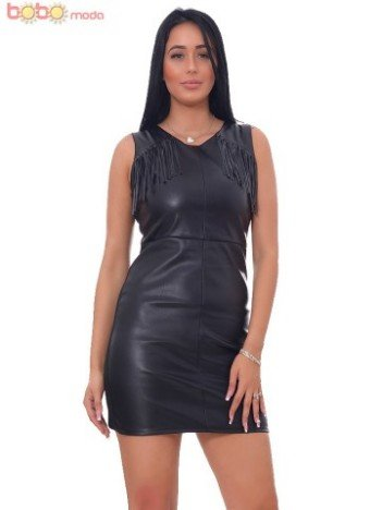 Rochie Italy Leather Nelly Black